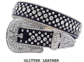 Black Flashy Karma Belt- 1005