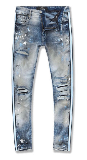 Sparta Striped Denim Jean- JM3441