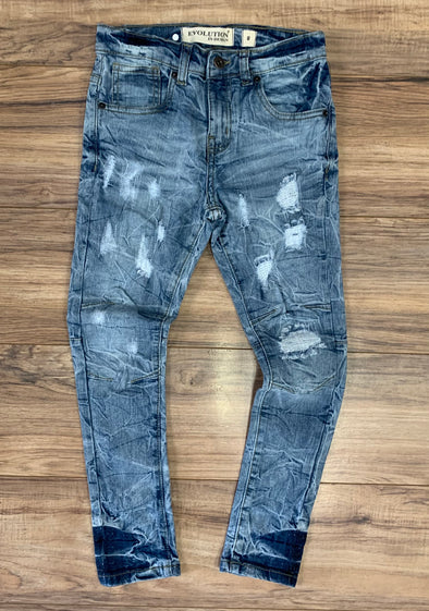 Big Kid's Stitched Denim Jean- 33529K