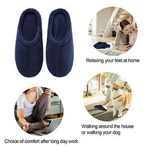 Load image into Gallery viewer, Comfort Memory Foam Slippers - Women's & Men's Plush Fleece Lined House Shoes Indoor, Outdoor Anti-Skid Rubber Sole