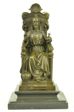 Art Deco Bronze Sculpture Statue Figure Bible Jesus Religious Art - sculptin.com