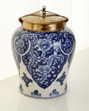 Load image into Gallery viewer, Blue and White Lidded Jar - sculptin.com
