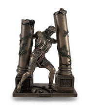 Load image into Gallery viewer, Bronze Finish Samson Pushing Down Pillars Statue - sculptin.com
