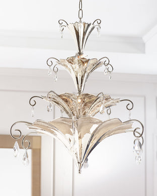 Chinoise Nickel Chandelier - sculptin.com