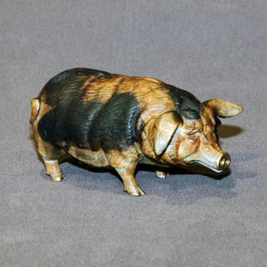 Bronze Pig Figurine Statue Sculpture Swine Art Limited Edition Signed Numbered - sculptin.com