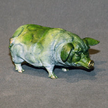 Load image into Gallery viewer, Bronze Pig Figurine Statue Sculpture Swine Art Limited Edition Signed Numbered - sculptin.com