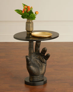 Poe Hand Styled Side Table - sculptin.com