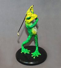 "Load image into Gallery viewer, Frog Bronze ""GOLFER"" Frog Figurine Statue Sculpture Golf Art / Limited Edition Signed & Numbered - sculptin.com"
