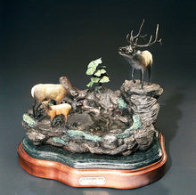 Load image into Gallery viewer, Bronze ''The Watering Hole'' Figurine Statue Sculpture Art - sculptin.com