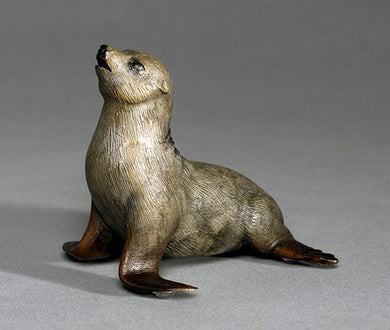 Bronze Sealena the Seal Sculpture Art Limited Edition - sculptin.com