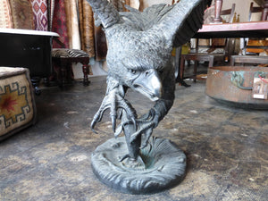 "Large Bronze Eagle 56"" H X 36"" L. - sculptin.com"