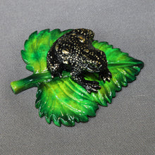 "Load image into Gallery viewer, Frog Bronze ""Romeo"" Figurine Statue Sculpture Amphibian Art / Limited Edition Signed & Numbered - sculptin.com"