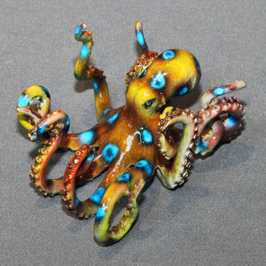 "Octopus Bronze Sculpture ""Oliver Octopus"" Figurine Statue Aquatic Art - sculptin.com"