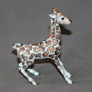 Bronze Giraffe Baby Figurine Sculpture Art Limited Edition Signed and Numbered - sculptin.com