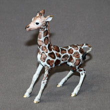 Load image into Gallery viewer, Bronze Giraffe Baby Figurine Sculpture Art Limited Edition Signed and Numbered - sculptin.com