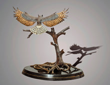 "Load image into Gallery viewer, Gorgeous ""Great Horned Owl"" Sculpture Bronze Figurine - sculptin.com"