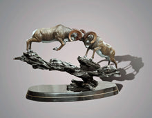 "Load image into Gallery viewer, Bronze Ram Sheep Figurine Sculpture ""Clap Of Thunder"" Art Limited Edition - sculptin.com"