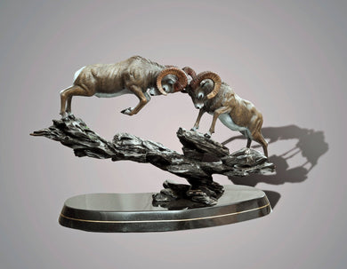 Bronze Ram Sheep Figurine Sculpture