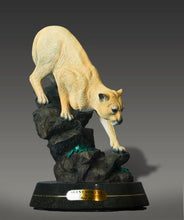 "Load image into Gallery viewer, Gorgeous Cougar / Mountain Lion ""Silent Descent"" Sculpture Bronze Figurine - sculptin.com"