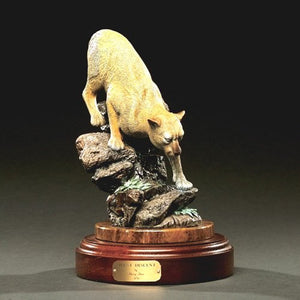 "Gorgeous Cougar / Mountain Lion ""Silent Descent"" Sculpture Bronze Figurine - sculptin.com"