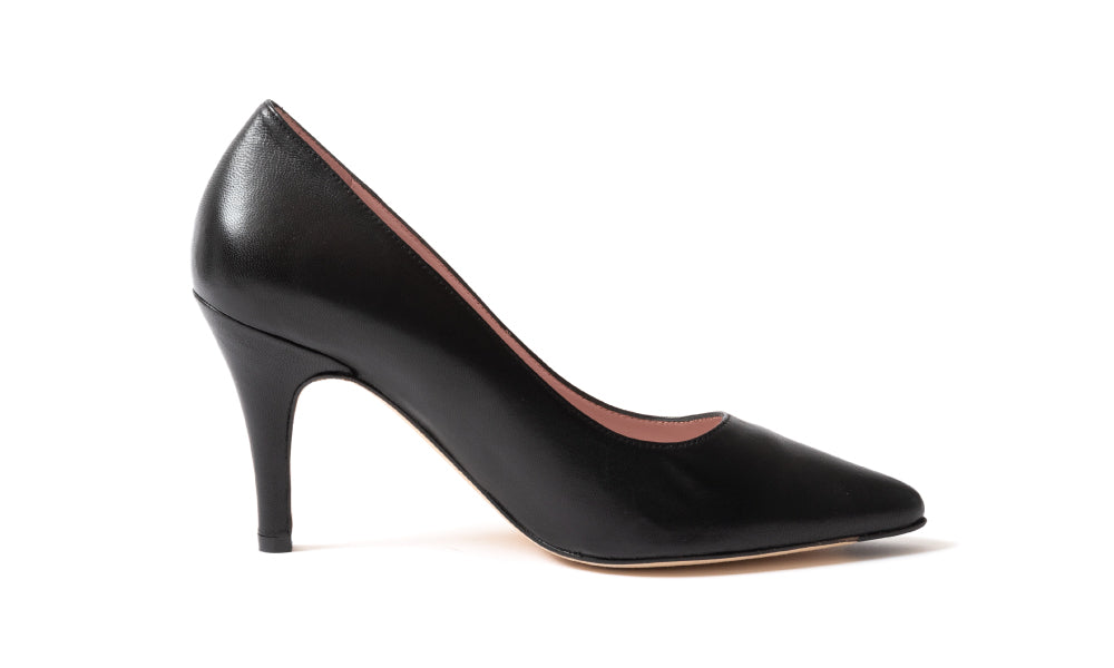 Black Leather Pumps | Julieta | The most comfortable heels ever.