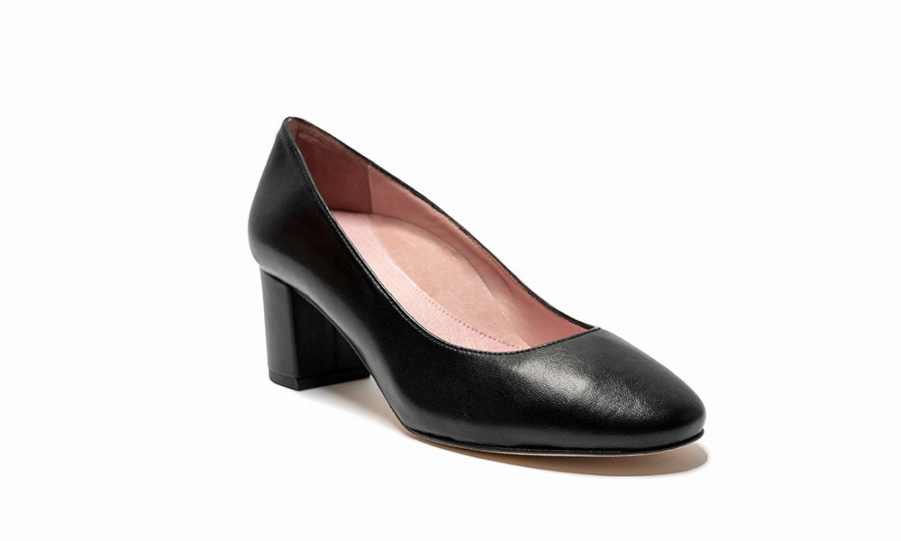 Comfortable Black Chunky Heel Shoes
