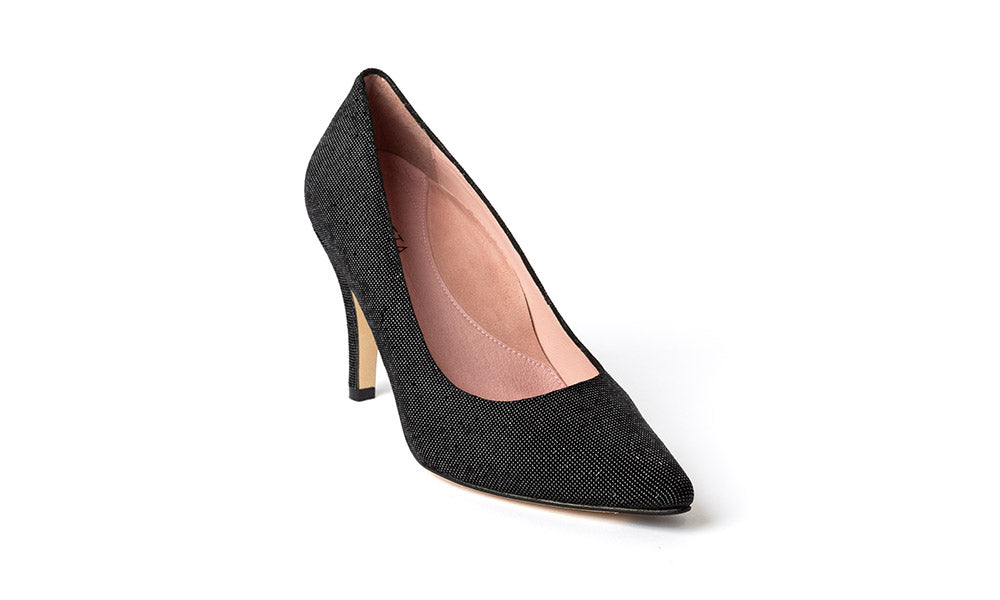Black Sparkly Heels | Julieta Shoes | The most comfortable heels.