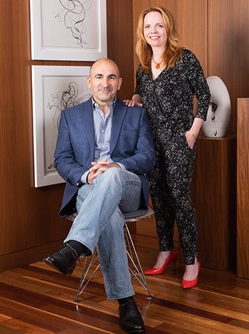 Julie Thompson and Fernando Peña, co-founders of Julieta   The most comfortable heels ever.
