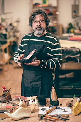 Alejandro Aviles, the man who makes Julieta heels the most comfortable heels you'll ever wear.