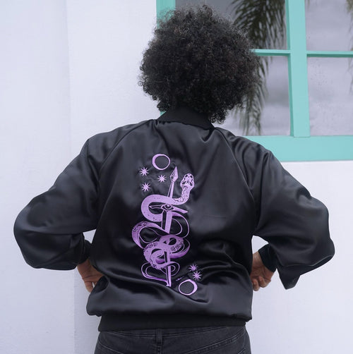 Snake + Dagger Bomber Jacket - Threads of Fate