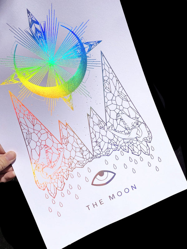 The Moon Art Print (more colors!) - Threads of Fate