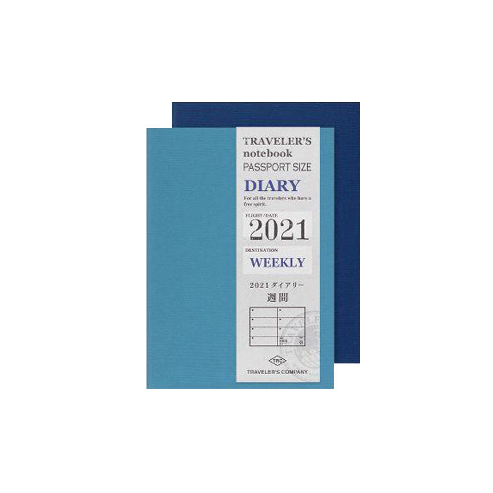 Traveller´s Notebook Kalender 2021 Passport Size - Ugentlig