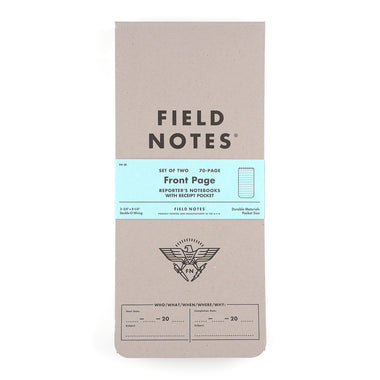Field Notes Front Page Notesbog