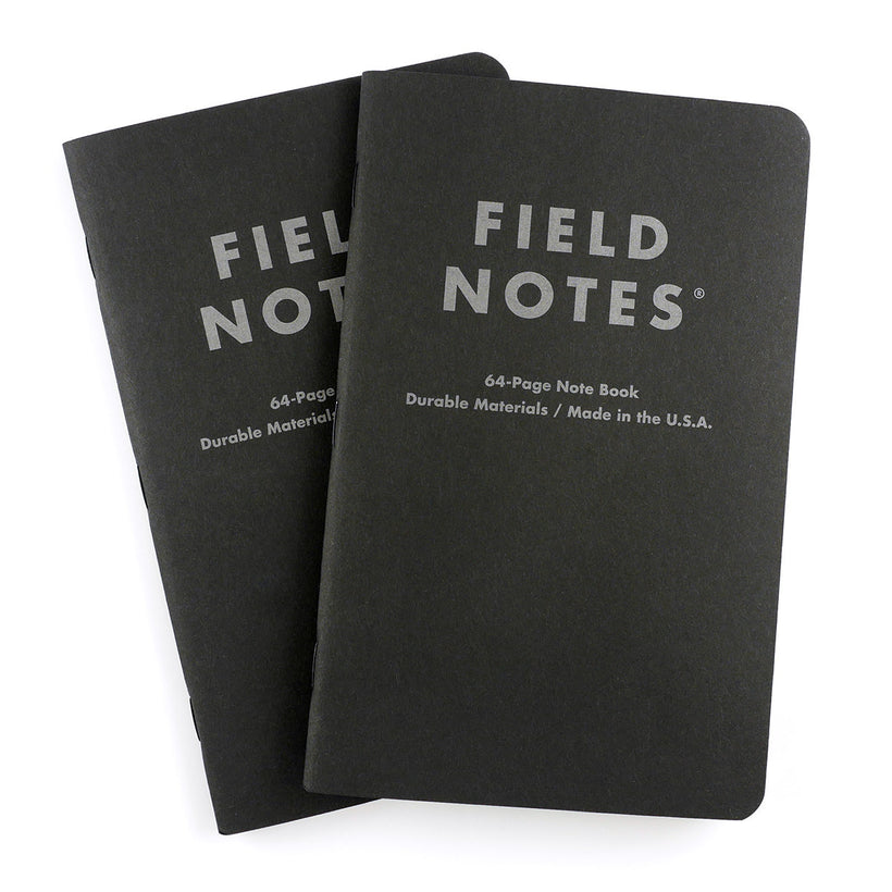 Field Notes Pitch Black XL Notesbog 2-pak