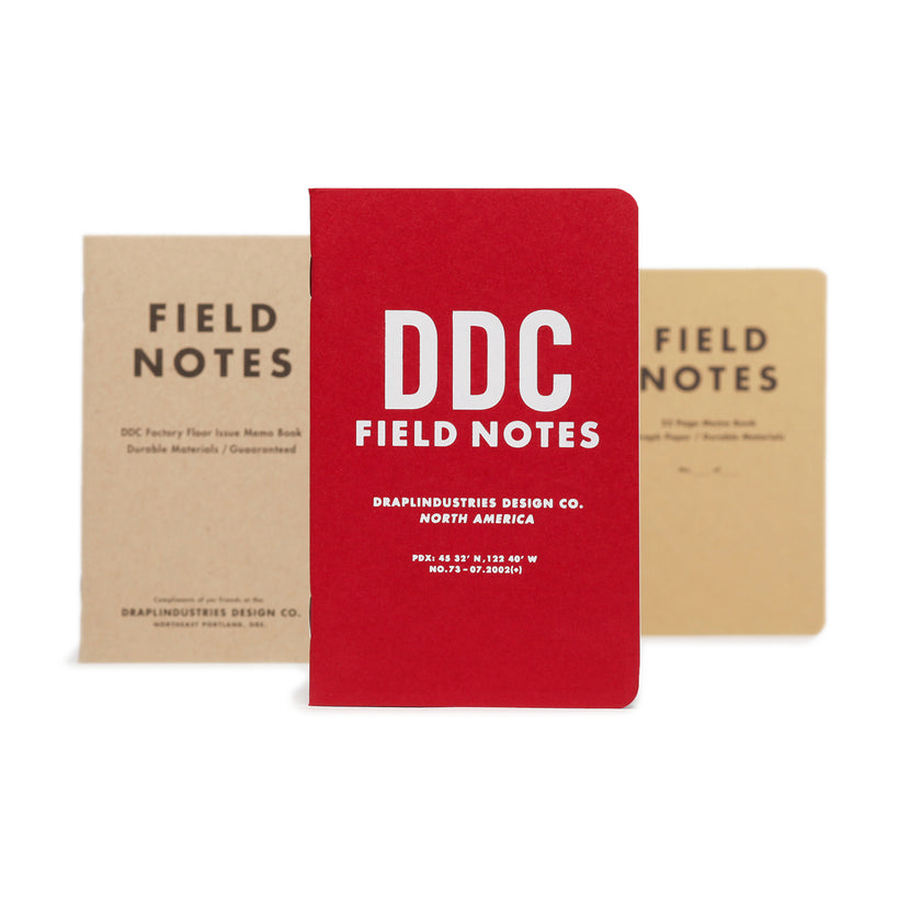 Field Notes Tenth Anniversary Edition Notesbog 3-pak
