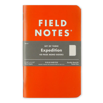 Field Notes Expedition 3-pak Notesbøger