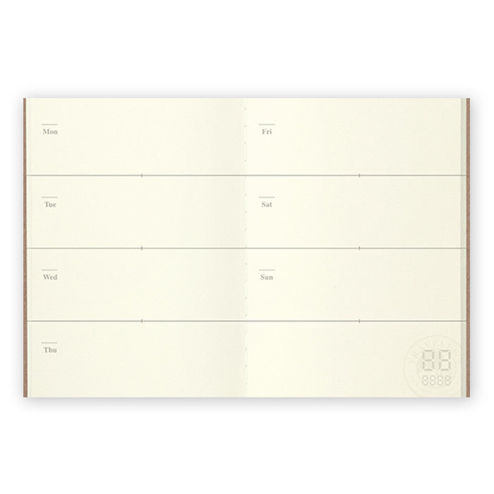 Traveler's Notebook Refill Passport Size - Free Diary Weekly Kalender