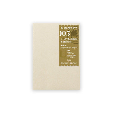 Traveler's Notebook Refill Passport Size - Light Weight Paper