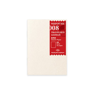 Traveler's Notebook Refill Passport Size - Sketch Paper