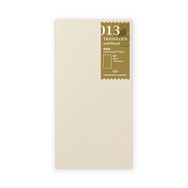 Traveler's Notebook Refill - Light Weight Paper