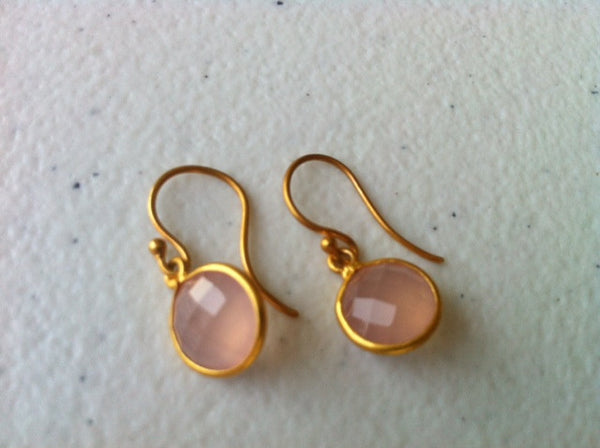 Lollipop | Gemstone Drop Earrings In Vermeil Bezel | Geoffrey Scott