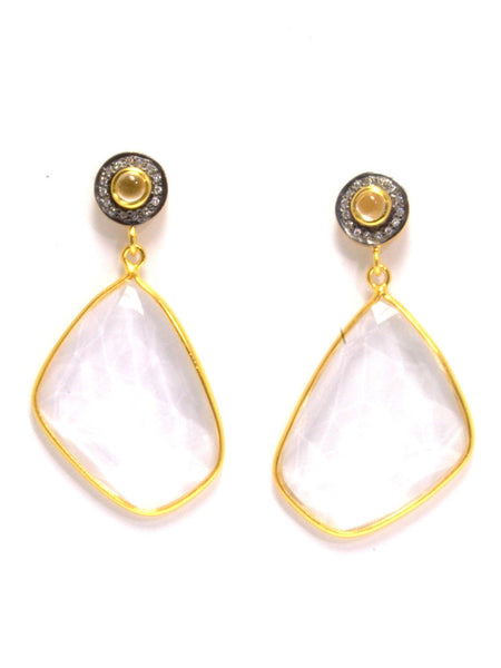 LILY quartz drop statement earrings