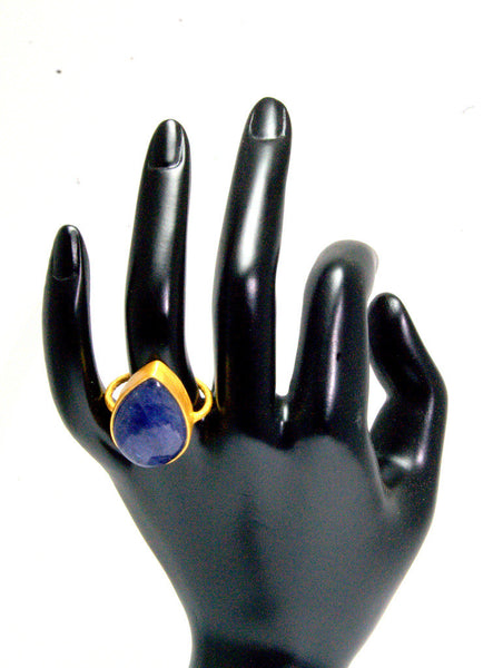 Pear Shaped Tanzanite Statement Ring