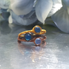 MIKROS Stacking Rings In Blue Chalcedony