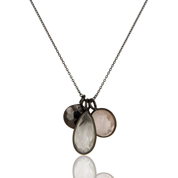 AMALFI necklace in oxidized reclaimed sterling silver