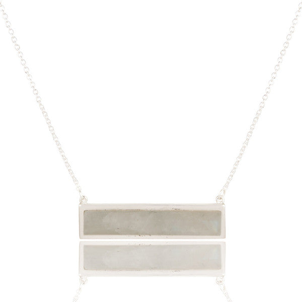 BAR necklace in reclaimed sterling silver