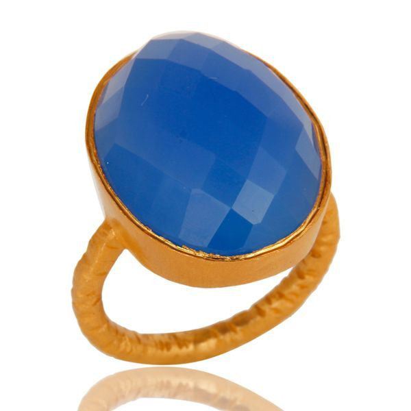 BLISS signature gemstone bezel statement ring