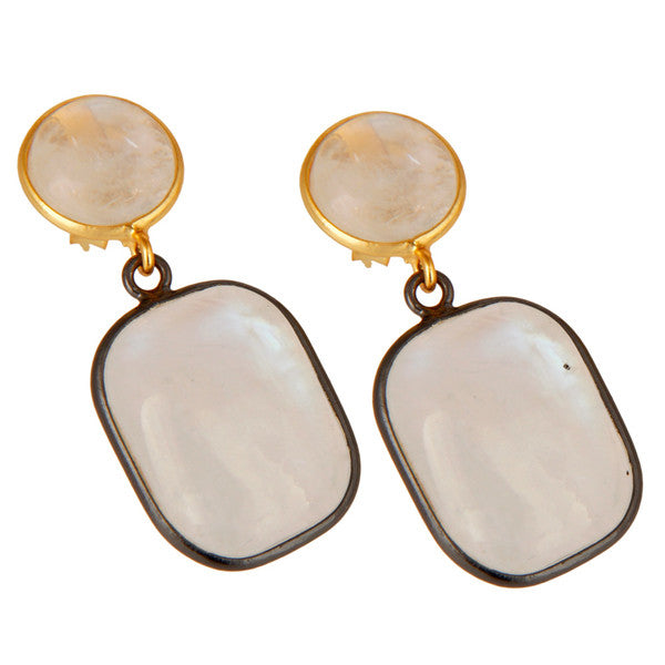 CAPRI earrings in reclaimed sterling silver + 22k gold vermeil