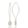 CELINE drop earring in reclaimed sterling silver