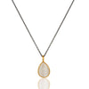 CELINE teardrop necklace in reclaimed silver + 22k gold vermeil